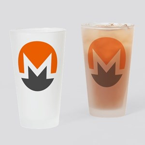Monero Logo Symbol Design Icon Drinking Glass