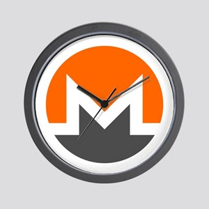 Monero Logo Symbol Design Icon Wall Clock