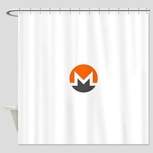 Monero Logo Symbol Design Icon Shower Curtain