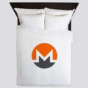 Monero Logo Symbol Design Icon Queen Duvet