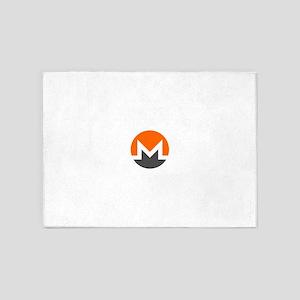 Monero Logo Symbol Design Icon 5'x7'Area Rug