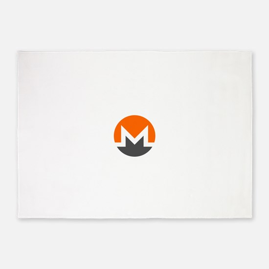 Monero Logo Symbol Design Icon 5'x7'Area Rug