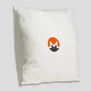 Monero Logo Symbol Design Icon Burlap Throw Pillow
