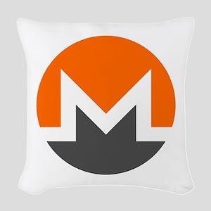 Monero Logo Symbol Design Icon Woven Throw Pillow