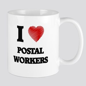 I Love Postal Workers Mugs