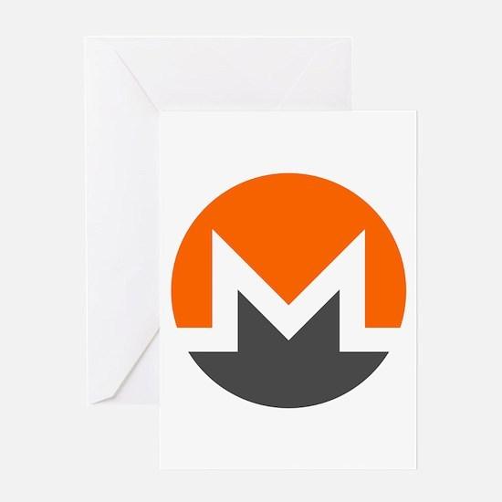 Monero Logo Symbol Design Icon Greeting Cards