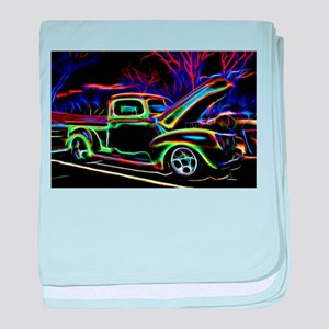 1940 Ford Pick up Truck Neon baby blanket