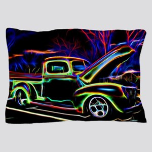 1940 Ford Pick up Truck Neon Pillow Case