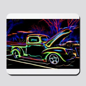 1940 Ford Pick up Truck Neon Mousepad