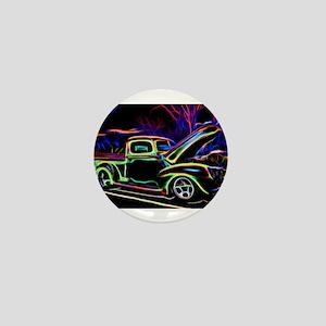 1940 Ford Pick up Truck Neon Mini Button