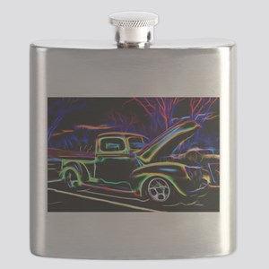 1940 Ford Pick up Truck Neon Flask