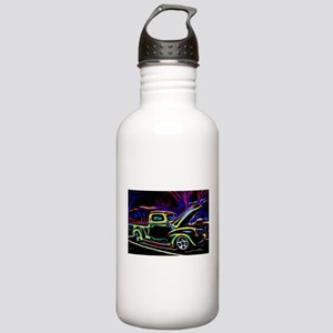 1940 Ford Pick up Truck Neon Water Bottle