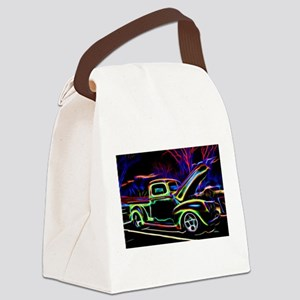1940 Ford Pick up Truck Neon Canvas Lunch Bag