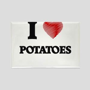 I Love Potatoes Magnets