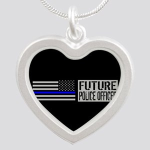 Police: Future Police Office Silver Heart Necklace