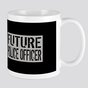 Police: Future Police Officer (Black Fl Mug