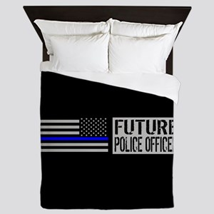 Police: Future Police Officer (Black F Queen Duvet
