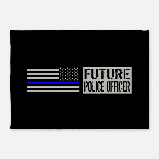 Police: Future Police Officer (Blac 5'x7'Area Rug