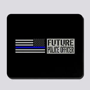 Police: Future Police Officer (Black Fla Mousepad