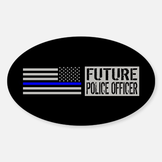 Police: Future Police Officer (Blac Sticker (Oval)