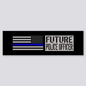 Police: Future Police Officer (Bl Sticker (Bumper)