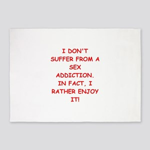 sex addict 5'x7'Area Rug