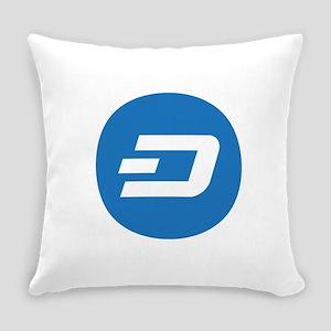 Dash Coin Logo Symbol Design Icon Everyday Pillow