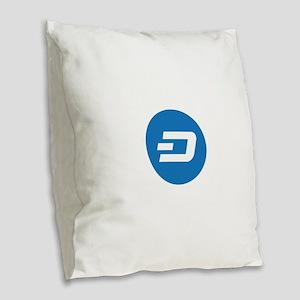 Dash Coin Logo Symbol Design I Burlap Throw Pillow