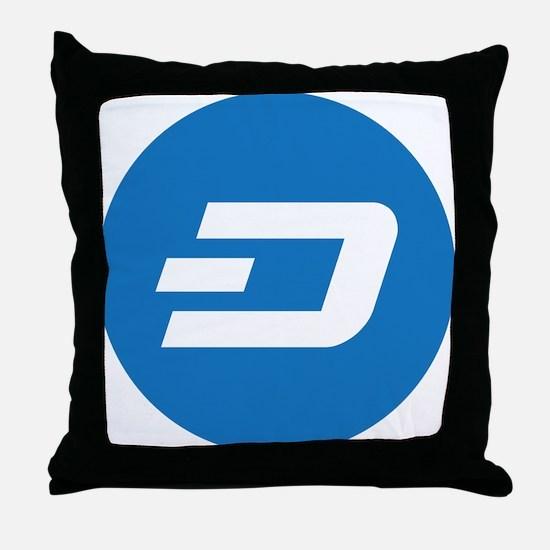Dash Coin Logo Symbol Design Icon Throw Pillow