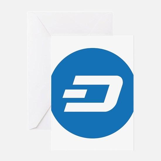 Dash Coin Logo Symbol Design Icon Greeting Cards