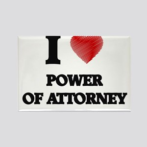 I Love Power Of Attorney Magnets