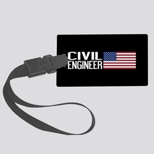 Careers: Civil Engineer (U.S. Fl Large Luggage Tag