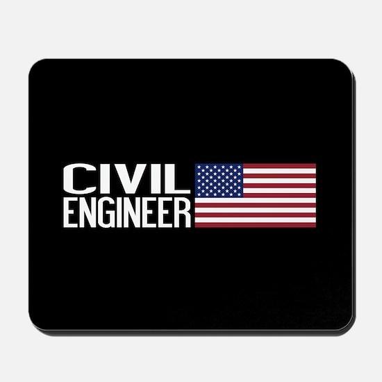 Careers: Civil Engineer (U.S. Flag) Mousepad