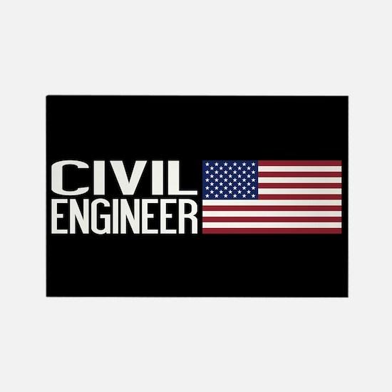Careers: Civil Engineer (U.S. Fla Rectangle Magnet