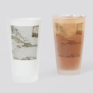 Vintage Map of The Caribbean (1779) Drinking Glass