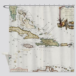 Vintage Map Of The Caribbean 1779 Shower Curtain