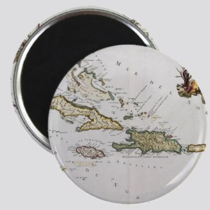 Vintage Map of The Caribbean (1779) Magnets