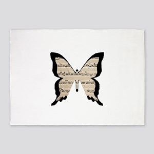 Musical Butterfly 5'x7'Area Rug