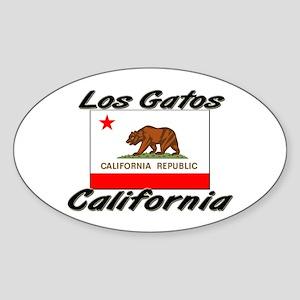 Los Gatos California Oval Sticker