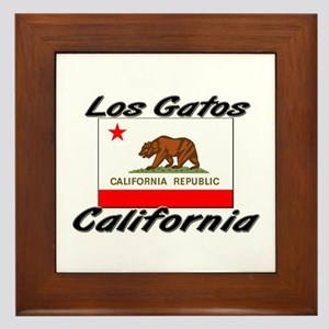 Los Gatos California Framed Tile