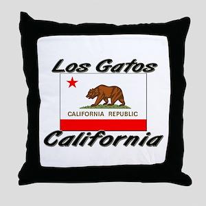 Los Gatos California Throw Pillow