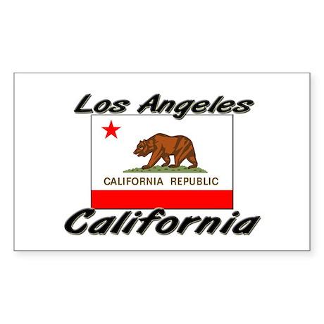 Los Angeles California Rectangle Sticker