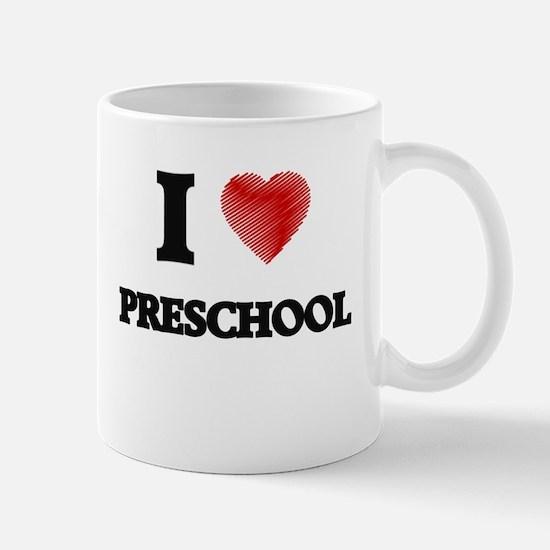 I Love Preschool Mugs