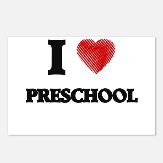 I Love Preschool Postcards (Package of 8)