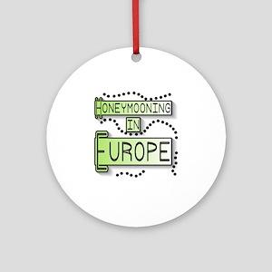Green Honeymoon Europe Ornament (Round)