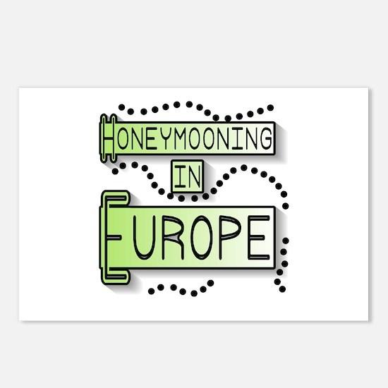 Green Honeymoon Europe Postcards (Package of 8)