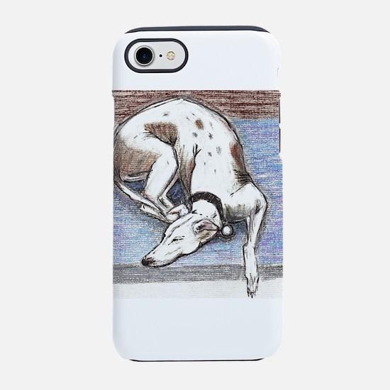 Sleeping Lurcher iPhone 8/7 Tough Case