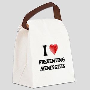 I Love Preventing Meningitis Canvas Lunch Bag