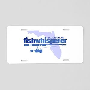 Florida fishwhisperer Aluminum License Plate