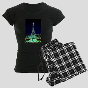 Glowing Eiffel Tower, Paris, Pajamas
